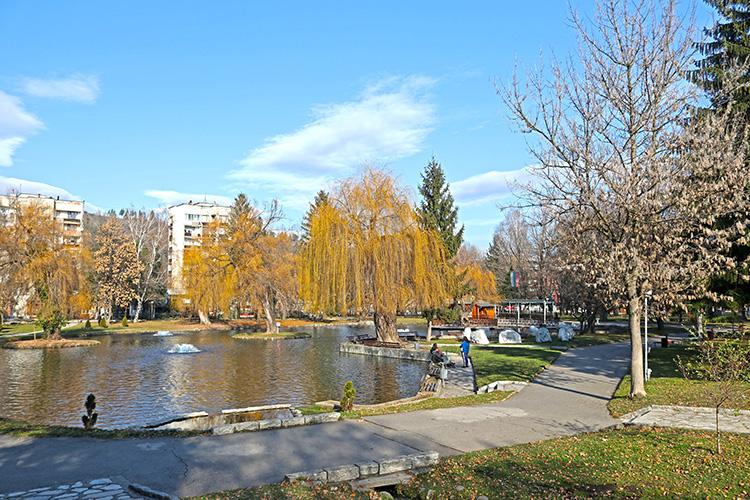 Градският парк в Разлог